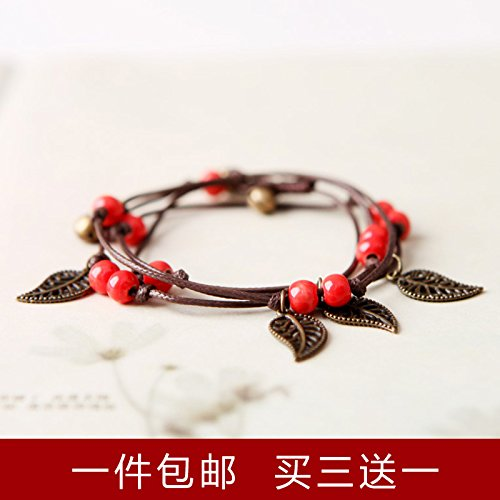 Cute little bell opening of a full suite of bells woven bracelet craft Sen Sen female line-line ringing Taoist town house