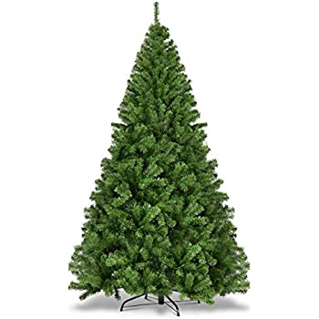 a70d5f9f2dd Goplus Christmas Tree Artificial Premium Hinged Spruce Full Tree with Solid  Metal Stand (7.5 feet