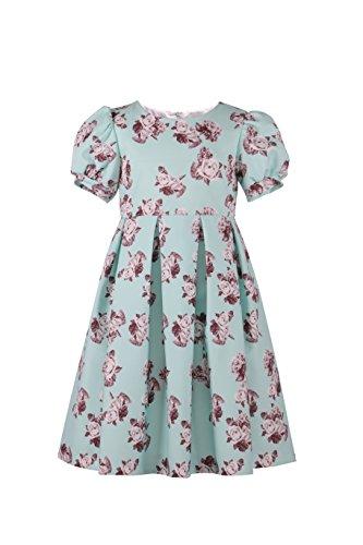 Emma Riley Girl's Fashion Flower-Printed Dress 10 -