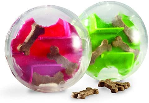 Planet Dog Orbee Tuff Mazee, Interactive Treat Dispensing Dog Puzzle Toy, 100% Guaranteed, Made in the USA, 5 Inch, Pink