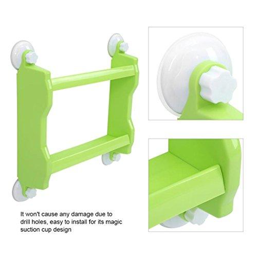 Dreamyth Suction Corner Rack Shelf Organizer Caddy Storage Bathroom Shower Wall Basket ()