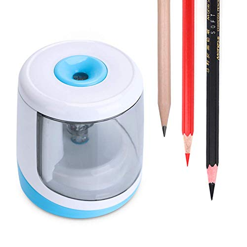 Electric Pencil Sharpener, Automatic Portable Pencil Sharpener, and Battery-Powered Color Pencil Cutter for Artists, Students, Adults, Classroom/Office - WorkerAnt