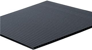"""product image for Falken Design COR-BK-4MM/2448 Coroplast Sign Board, Corrugated Fluted Plastic Sheet 4mm (0.157""""), 24"""" x 48"""" - Black, Plastic"""
