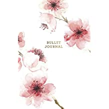 Bullet Journal: Floral Cherry Blosson Dot Grid Notebook | 6x9 Dotted Bullet Journal Floral