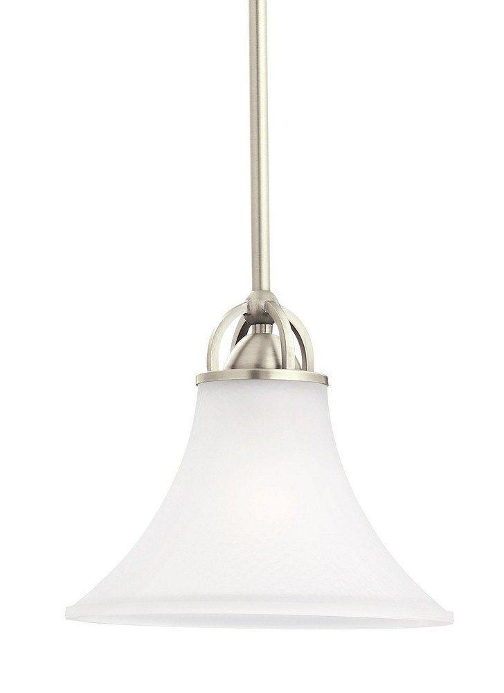 Sea Gull Lighting 61375EN3-965 Somerton Pendant, 1-Light LED 9.5 Watts, Antique Brushed Nickel