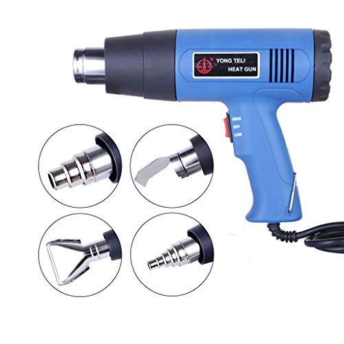 Mapsoul Multifunction Professional Heat Gun 1500W Hot Air Wind Blower Dual Temperature with 4 Nozzles Power Heater,Variable Temperature Control 400-600℃