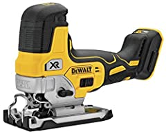 Our 20V max* XR® Cordless barrel grip jig saw features an efficient motor for powerful performance and extreme runtime. Precisely control blade speed up to 3, 200 SPM with the variable speed trigger and dial, for professional results No matte...