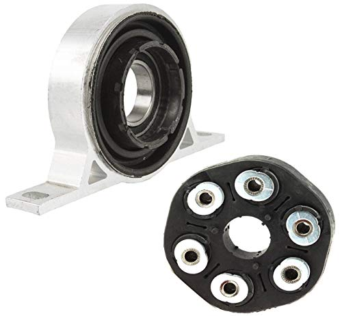 - Bapmic 26117542238 Driveshaft Flex Disc Joint + Center Support Bearing for BMW E60 E61 E63 E64