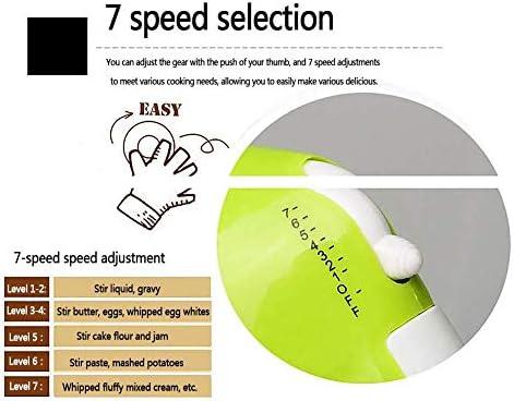 Mescolatore 2 in 1 Mescolatore per Alimenti 1,7 Litri 100 W Ciotola in Acciaio Inossidabile 7 Impostazioni di velocità variabile A Basso Rumore Include Frusta a Gancio