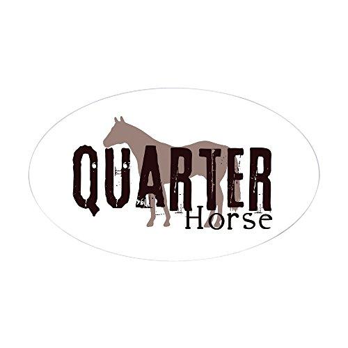 - CafePress Quarter Horse Oval Sticker Oval Bumper Sticker, Euro Oval Car Decal