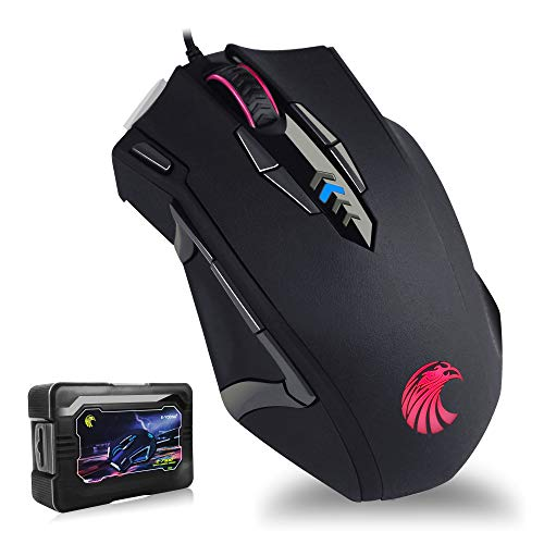 E-YOOSO Z7900 RGB Gaming Mouse Wired, 10000 DPI Adjustable, 13 Programmable Buttons Ergonomic Optical Gaming Mice - Tunable Weights