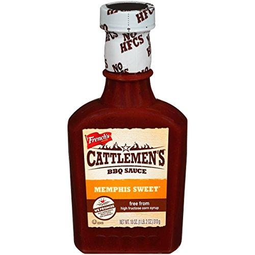 Cattlemen's Memphis Sweet BBQ Sauce, 18 Ounce (Pack of 12)