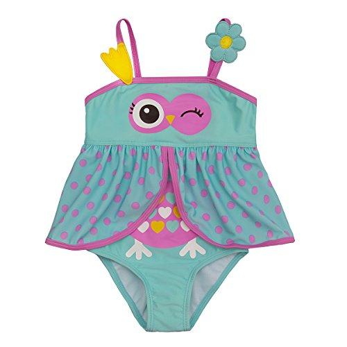 Minikidz Girls Novelty Animal Themed Swimming Costume Owl 4-5 Years
