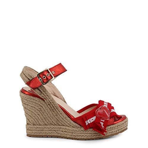 Love Moschino Women Red Wedges