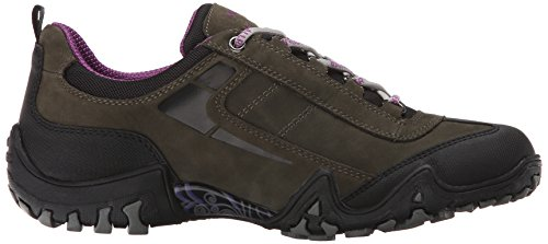 Sport Rubber Fina Mid Nubuck by Tex Women's Black Grey Mephisto Allrounder Shoes 1OXx64q