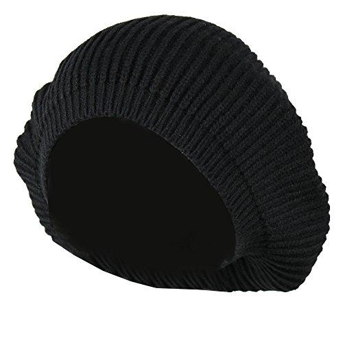 Ribbed Knit Beret - 7