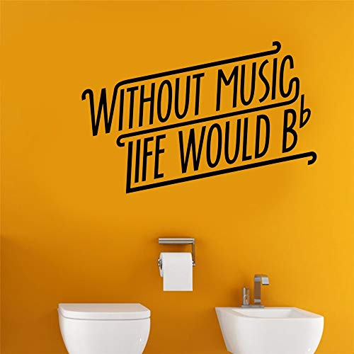 Pomtes Wall Decor Stickers for Living Room Without Music Life Would Be Flat Home Décor]()