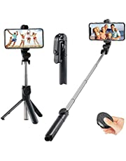 Selfie Stick Tripod, Extendable Monopod Selfie Stick, Detachable Wireless Remote with Tripod Stand, Support Video Record for Gopro Camera iPhone XS Max/XS/XR/X/8Plus/8/7 Plus/6S Plus ,Galaxy S5/S6 Edge/ S8/S7 Edge - other ios and Android Devices