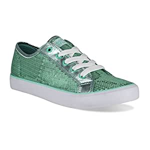Gotta Flurt Youth Disco II Lace Up Low Top Sneakers, Mint, Size 1