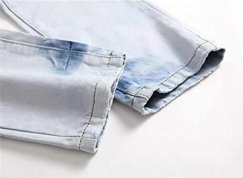 Slim Piega Jeans 1 Fori A Colore Maschi Vestibilità Contrasto Pantaloni Dritto Versaces Color zt4wqZfn5