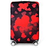 Bestja Washable Travel Luggage Cover Elastic Suitcase Trolley Protector Cover for 18-32 Inch Luggage (Love, S)