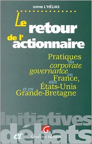 RETOUR L'ACTIONNAIRE. Pratiques