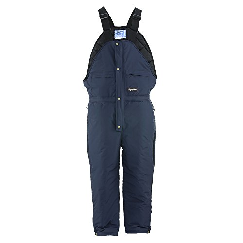 Refrigiwear Men's ChillBreaker Insulated High Bib Overalls (Navy Blue, 2XL) -