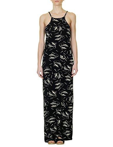 dr-denim-jeansmakers-womens-andriana-black-maxi-dress-in-size-l-black