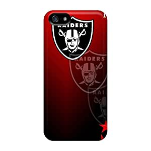Shock-Absorbing Hard Phone Case For Iphone 5/5s (Pnn18475gtEV) Customized Stylish Oakland Raiders Skin