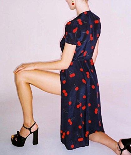 V Epoca Stampa Collo Corta Floreale Manica Wrap Dress Donne Jaycargogo Di 1 Del 15OWx4qICw