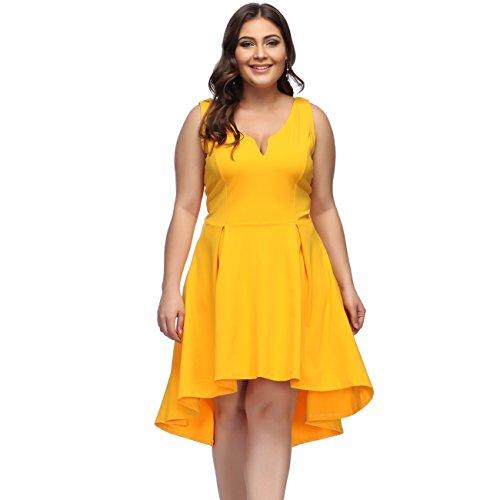 KUREAS Plus Size Dresses Women Summer Sleeveless High Low ... - photo #41