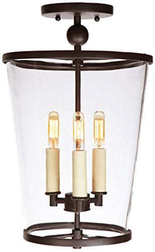 JVI Designs 3053-15 3-Light Charleston Semi Flush, Medium