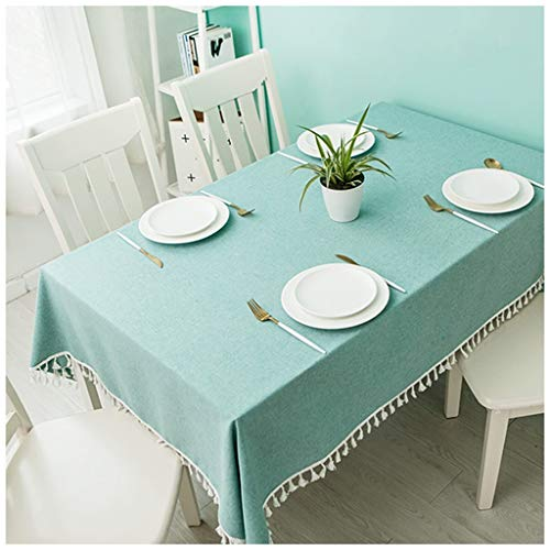 SMC Japanese Style Fresh Green Tablecloth Fabric Lace Tablecloth Coffee Table Piano Cover (9 (Size : 140X200CM)