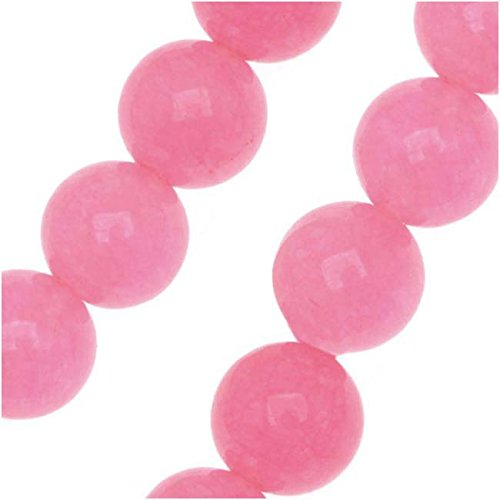 Pink Candy Jade 6mm Round Beads / 15.5 Inch - Jade Round Beads Candy