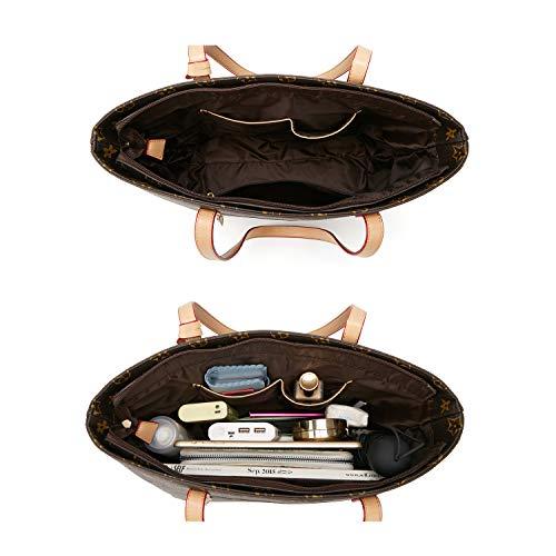 ELIMPAUL Women Fashion Handbags Tote Bag Shoulder Bag Top Handle Satchel Purse Set 4pcs (Black-3) by ELIMPAUL (Image #4)