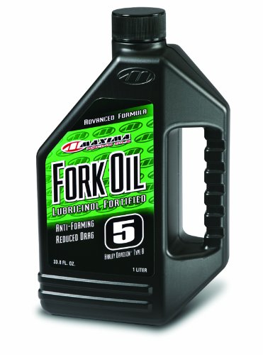 Price comparison product image Maxima 54901 5WT Standard Hydraulic Fork Oil - 1 Liter Bottle