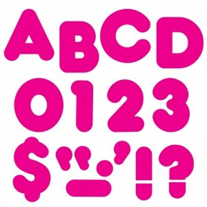 Trend T-477BN Ready Letters, 4 Inch Casual, Deep Pink, MultiPk 6 Packs/CT -  TREND ENTERPRISES INC.