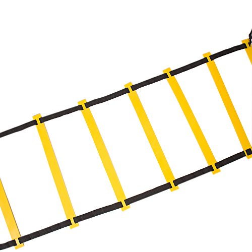 Quickness Training Equipment - Set of 15ft Speed Ladder, 10 Markers, 4 Pegs, Bag - For Faster Footwork And Better Movement Skills by VRStore (Image #1)