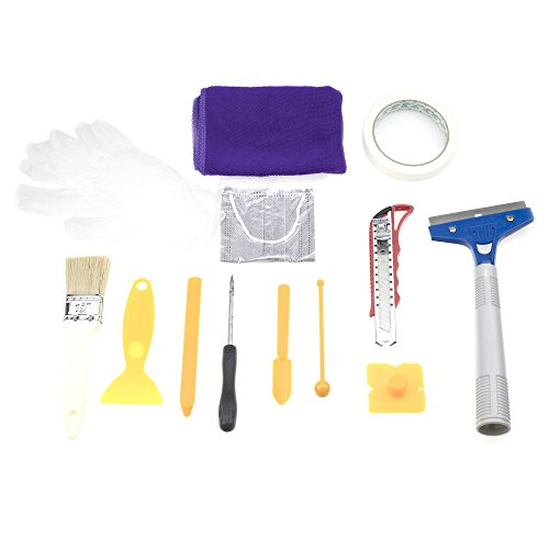 13 Pieces Caulking Tool Kit Silicone Sealant Finishing Tool with Grout Scraper Caulk Remover and Caulk Caps for Bathroom…