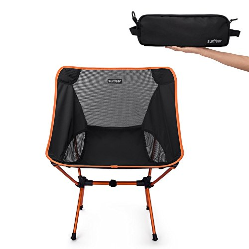 Sunyear Lightweight Compact Folding Camping Backpack Chairs, Portable, Breathable Comfortable, Perfect for Outdoor,Camp,Hiking,Picnic Black Moon Fishing Backpack