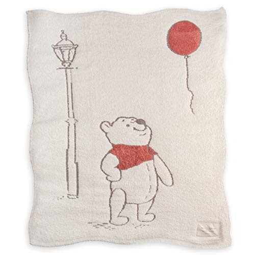 (Barefoot Dreams The CozyChic Disney Winnie The Pooh Blanket, Multicolor Throw, Double Layer Jacquard Knit)