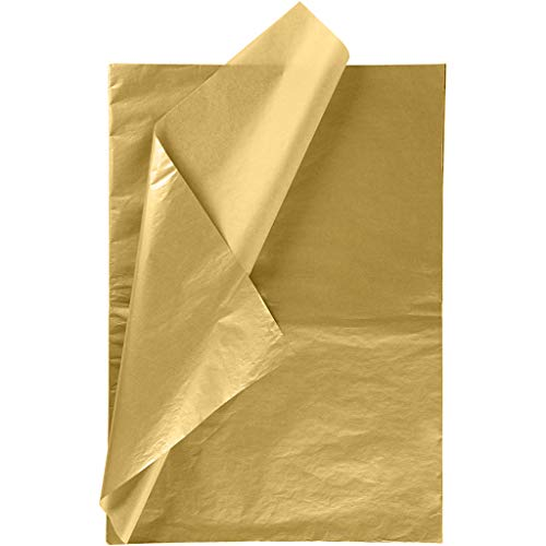 RUSPEPA Gift Wrapping Tissue Paper - Metallic Gold Tissue Paper for DIY Crafts,Pack Bags - 19.5 x 27.5 inches -25 Sheets