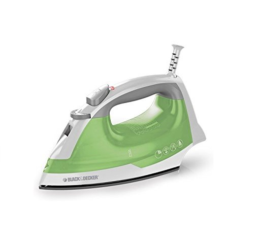 Black & Decker Corded Easy Steam Iron, Lime Green, Compact,