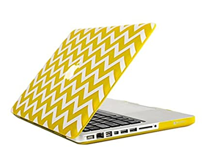huge discount 5cb64 6a9ed TopCase Chevron Series Yellow Ultra Slim Light Weight Rubberized Hard Case  Cover for Macbook Pro 13-inch 13
