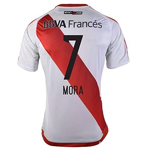 adidas River Plate Home Mora 9 Jersey 2016/2017 (Fan Style Printing) - M