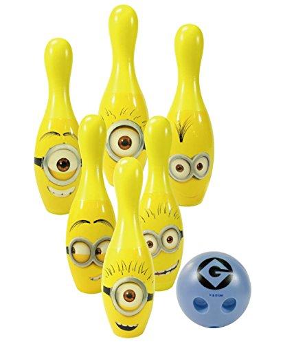 Despicable Me - Minions 111382 - Bowling Set 6 Kegel 20 cm und 1 Kugel aus Kunststoff in Geschenkpackung 27 x 12 x 22 cm