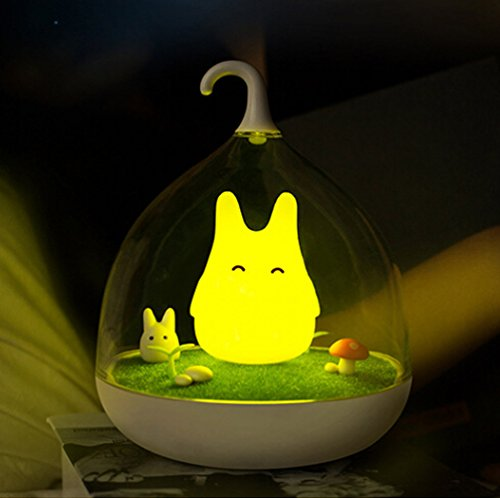 - WOMHOPE Children's Night Lights Hand-held Design Touch Sensor Vibration Cage Lamp Night Lights - Charging - for Kids, Baby,Valentines Gift,Outdoor Lamp (Yellow)