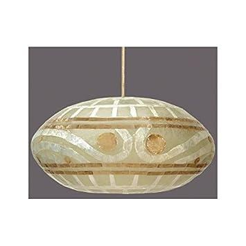 Exclusivas camacho - Lampara techo fibra/nacar, tamaño 50x27 ...