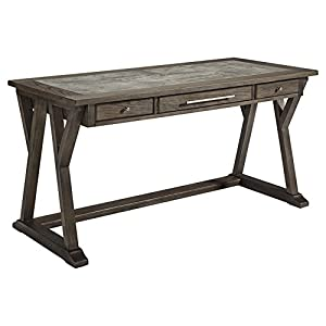 Signature Design by Ashley Luxenford Home Office Large Leg Desk Grayish Brown