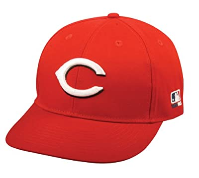 MLB ADULT Cincinnati REDS Home ALL RED Hat Cap Adjustable Velcro TWILL New